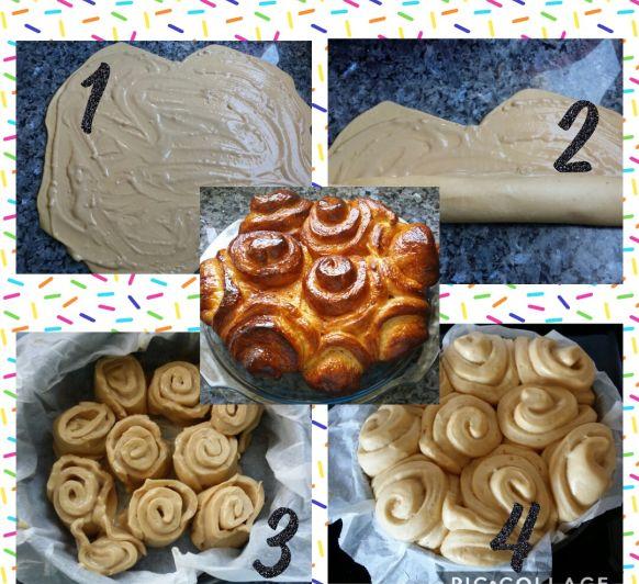 Brioche con crema pastelera